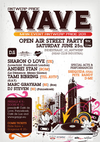 Wave party is the main event on Antwerp Pride 2011