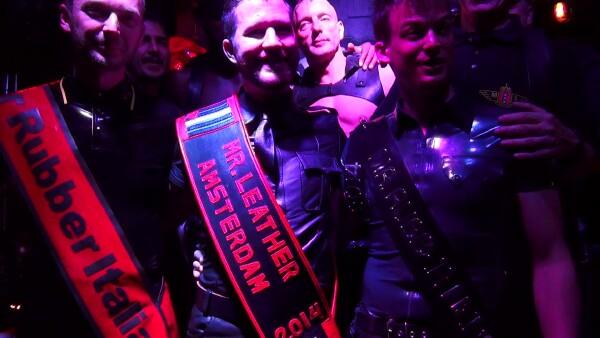 Arnaud is Mr Leather Amsterdam 2014