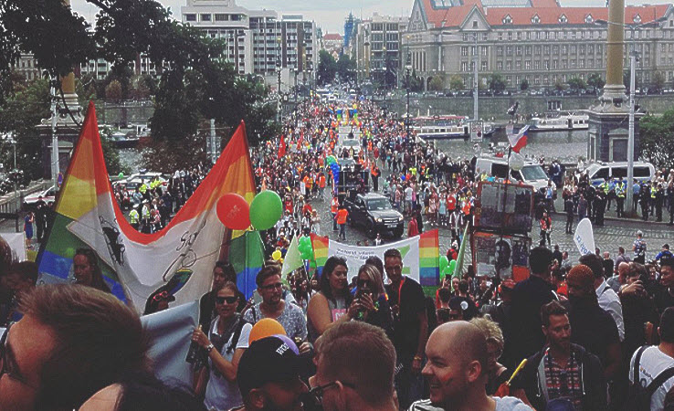 Prague Pride 2017 parade was Huge with less protests then last years
