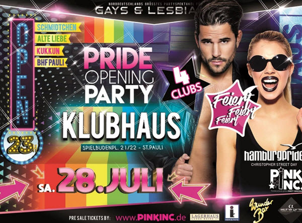 Pride Opening Party Hamburg Pink Inc