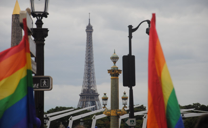 LGBT in Paris in der Marche des Fiertes