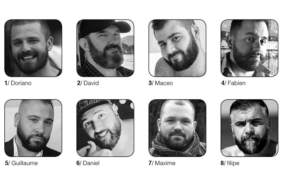 8 candidats finalistes de Election de Monsieur Ours 2020