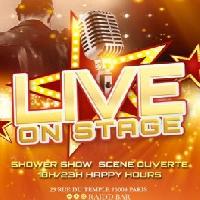 La live on stage